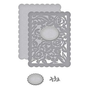 Spellbinders Floral Panel Card Die Set