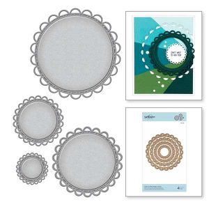 Spellbinders Nestabilities Open Scallop Edge Circles Etched Dies class=