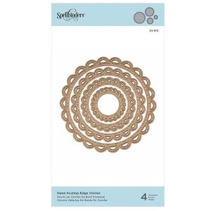 Spellbinders Nestabilities Open Scallop Edge Circles Etched Dies