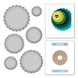 Spellbinders Nestabilities Fancy Scallop Edge Circles Etched Dies class=