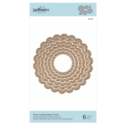 Spellbinders Nestabilities Fancy Scallop Edge Circles Etched Dies