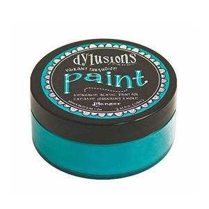 Dylusions Blendable Acrylic Paint – Vibrant Turquoise