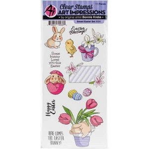 Art Impressions Sweet Easter Stamp Set class=