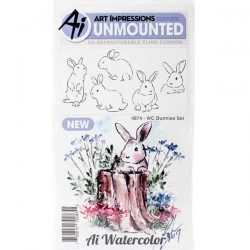 Art Impressions Watercolor Bunnies Set