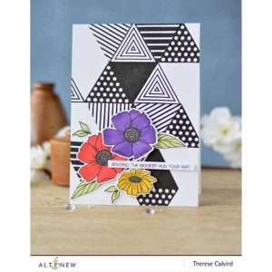 Altenew Happy Bloom Stamp Set class=