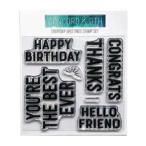 Concord & 9th Everyday Greetings Stamp Set class=