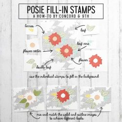 Concord & 9th Posie Fill In Stamp Set