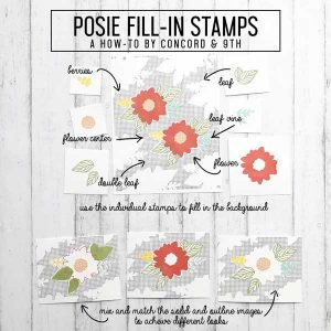 Concord & 9th Posie Fill In Stamp Set class=