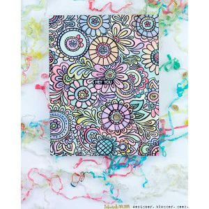 Catherine Pooler Designs Doodle Garden Background Stamp class=
