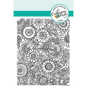 Catherine Pooler Designs Doodle Garden Background Stamp