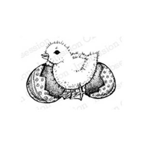 Impression Obsession Easter Chick Stamp