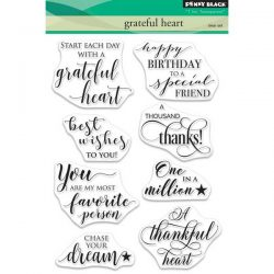 Penny Black Grateful Heart Stamp Set
