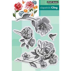 Penny Black Flower Pageant Slapstick/Cling Stamp