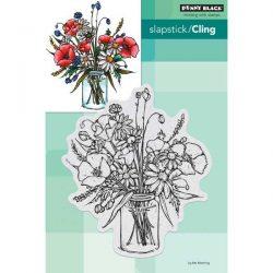 Penny Black Vase Garden Slapstick/Cling Stamp