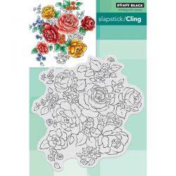 Penny Black Floral Medley Slapstick/Cling Stamp