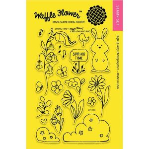Waffle Flower Spring Time Stamp Set class=