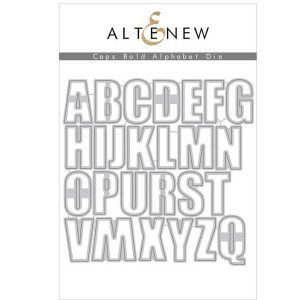 "<span style=""color:red;"">Pre-Order</span> Altenew Caps Bold Alphabet Die Set - (more on their way)"