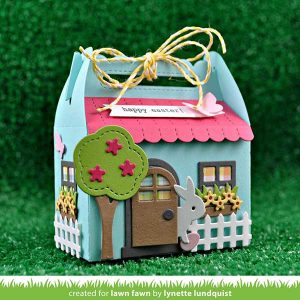 Lawn Fawn Scalloped Treat Box Spring House Add-on class=