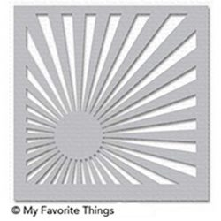 My Favorite Things Sunrise Radiating Rays Stencil