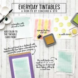 Concord & 9th Everyday Tintables Card Pack