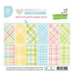 "Lawn Fawn Perfectly Plaid Spring Petite Paper Pack - 6"" x 6"""
