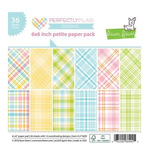 Lawn Fawn Perfectly Plaid Spring Petite Paper Pack