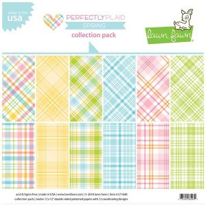 "Lawn Fawn Perfectly Plaid Spring Collection Paper Pack - 12"" x 12"""