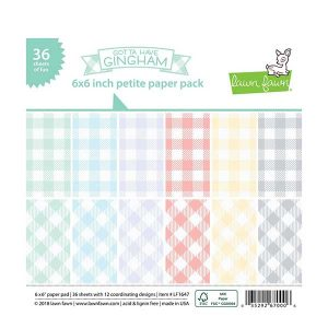 "Lawn Fawn Gotta Have Gingham Petite Paper Pack - 6"" x 6"""
