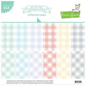 "Lawn Fawn Gotta Have Gingham Collection Pack - 12""x12"""