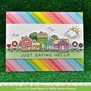 "Lawn Fawn Really Rainbow Petite Paper Pack - 6"" x 6"" class="