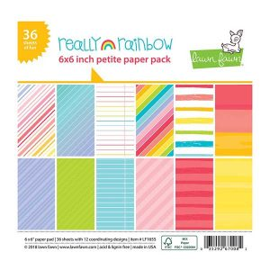 "Lawn Fawn Really Rainbow Petite Paper Pack - 6"" x 6"""