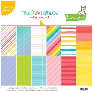 Lawn Fawn Really Rainbow Collection Pack – 12″ x 12″