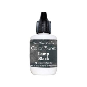 Ken Oliver Color Burst Watercolor Powder - Lamp Black