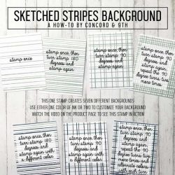 Concord & 9th Sketched Stripes Background Stamp