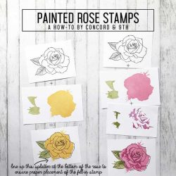 My Favorite Things Painted Rose Stamp Set
