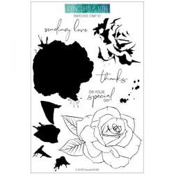 Concord & 9th Painted Rose Stamp Set