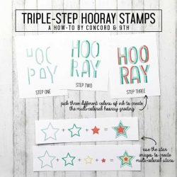 Concord & 9th Triple-Step Hooray Stamp Set