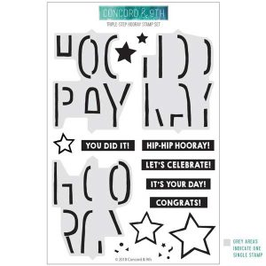 Concord & 9th Triple-Step Hooray Stamp Set