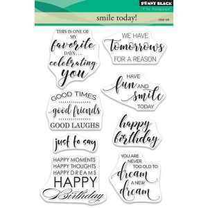 Penny Black Smile Today Stamp Set class=