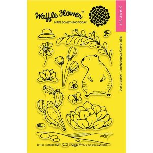 Waffle Flower Summer Time Stamp Set