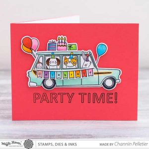 Waffle Flower Limo Ride Stamp Set class=