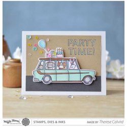 Waffle Flower Limo Ride Stamp Set
