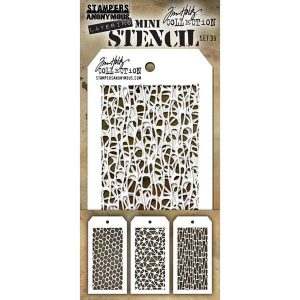 Tim Holtz Mini Layering Stencil, Set #35