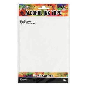 Tim Holtz Alcohol Ink White Cardstock Yupo Paper class=