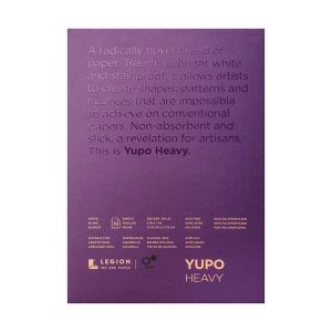 """Yupo Paper Pad – White, HEAVY – 5"""" x 7"""""""