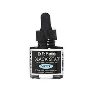 Dr. Ph. Martin's Black Star Waterproof India Ink