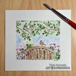 Art Impressions Watercolor Foliage Set 1