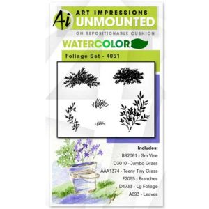 Art Impressions Watercolor Foliage Set 1
