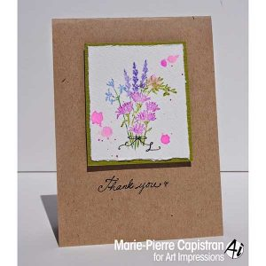 Art Impressions Watercolor Flower Set class=