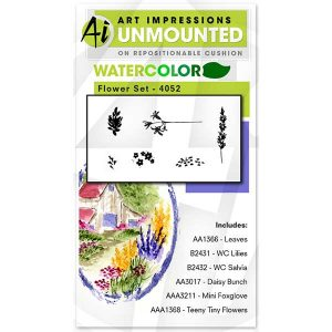 Art Impressions Watercolor Flower Set